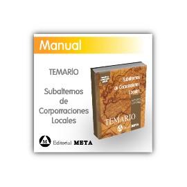 Temario - Subalternos de Corporaciones Locales (Ordenanzas, conserjes, porteros, alguaciles...)