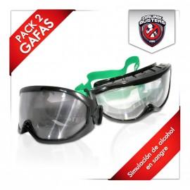 Pack ahorro - 2 Gafas de simulación de alcohol Drunkbusters