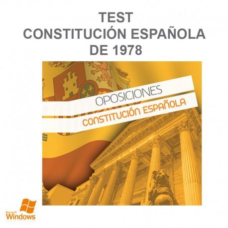 Test Contitución Española de 1978